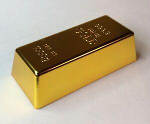 "GOLD BULLION ""999.9 FINE GOLD"" DOOR STOPPER/PAPER WEIGHT GOLDEN SERIES- FAKE"