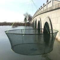 Foldable Drop Net Fishing Landing Net, Prawn Bait Crab Shrimp Pier-Harbour K0E5