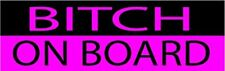 2X Funny Pink Auto Decal Bumper Sticker For Women Girls Bitch On Board For Car