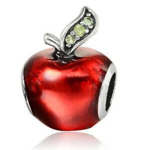 Crystal Christmas Red apple Spacer Beads Fit Bracelet Necklace Making /1062