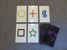 1PK E02C Low Cost zener style ESP Testing Cards - not marked - not a magic trick