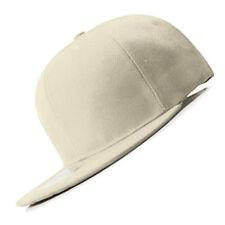 New White FLAT Peak SNAPBACK Plain Blank Cap Dancer Hat Chapeau #flat #cap