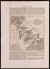 1880 - Carte de l'isthme du Panama & Panorama de la ville (Gravure)