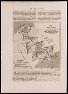 1880 - landkarte Der Nehrung Du Panama & Panorama Der Ville (Gravur)
