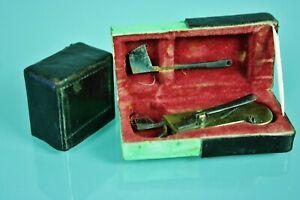 Antique Early 19.c Bloodletting Lancet, Fleam, Scarificator, Original Box.