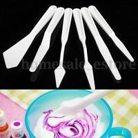 6pcs Professional Plastic Mix Palette Knife Scraper Set Spatula for Oil