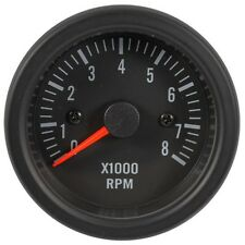 52mm Tachometer Gauge Electrical Black Face with Super White LED for Car