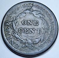 1808 Shattered Die Crack Mint Error U.S. Large Cent Old Antique US 1 Penny Coin