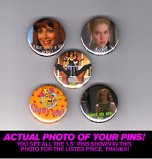 """DON'T TELL MOM THE BABYSITTER'S DEAD1.5"""" PINS / BUTTONS  (poster print 90s)"""