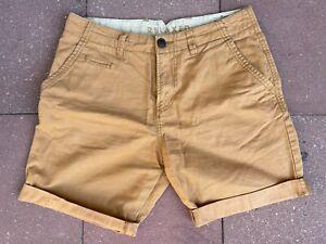 TOM TAILOR Shorts Herren dunkel beige W30 relaxed