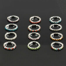 12Pcs High Quality Pack Elastic Crystal Toe Rings Charms Lots Body Jewelry Fun