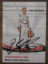 Handsignierte Autogrammkarte TIMO BERNHARD PORSCHE Future Sportscar Saison 2017