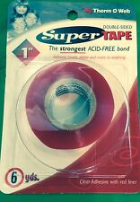 Thermo-Web Double-Sided Super Strong Red Line Tape - 4104 - 1 inch wide