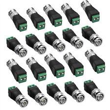 20 BNC Stecker auf Terminal Klemmen Block Adapter für CCTV Video Kameras Stecker