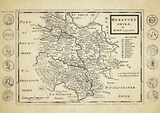 Herefordshire  County Map by Herman Moll 1724 - Reproduction