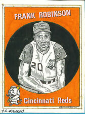T.S. O'Connell Original Artwork - Baseball Greats - Frank Robinson, Reds