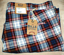 NWT-Bills Khakis Parker Short Standard Fit, Tartan Plaid, 40 NWT