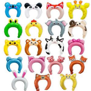 20Pcs Cute Headband Foil Balloon Animal Balloon Children's Toys Party Decor&P1