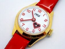 Swiss Made Vintage Ladies Cycle Heart Watch Great Gift For Valentines Day