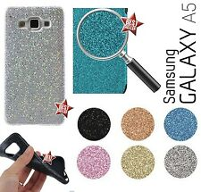CUSTODIA COVER CASE IN GOMMA BRILLANTINI STRASS GLITTER per SAMSUNG GALAXY A5