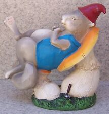 Garden Accent Mouse Napping on a Mushroom NEW