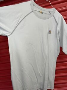 Carhartt FR Flame Resistant Force 102903-051 TAN Large Short Sleeve Tee Shirt Z7
