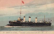Postcard Ship Marine de Guerre Du Chayla Croiseur Cuirasse de 1re classe