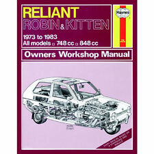 Reliant Robin Kitten 748cc 848cc 73-83 (up to A Reg) Haynes Manual