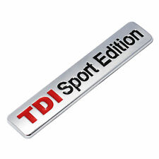 TDI Sport Edition 3D Emblem Car SUV Sticker Turbo Direct Injection Metal Badge