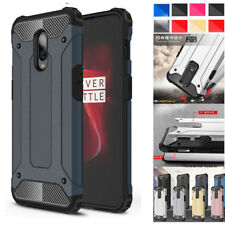 For One Plus 6T Shockproof Armor Case Thin Hybrid Rubber Hard Shell Cover Skin