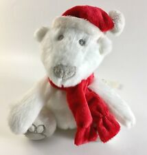 "Bath & Body Works White Santa Polar Bear Plush 9"" New Old Stock"