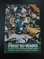 Vintage The First Fifty Years Story of National Football League book NFL 1970