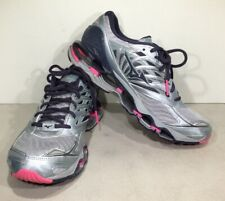 Mizuno Wave Prophecy 8 Women's Size 10 Silver/Pink/Purple Running Shoes X5-586