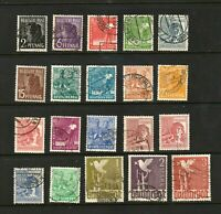 Germany stamps #557-576, no 577, mint & used, 1947-48, SCV $37