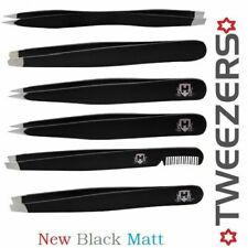 Professional Black Eyebrow Tweezers Hair Beauty Made in Stainless Steel Tweezers
