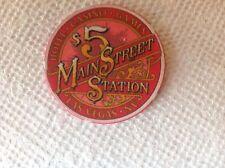 MAIN STREET $5 CASINO CHIP LAS VEGAS NEVADA CHIPCO MOLD 1991 ROSIE O'GRADY'S