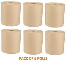 Boardwalk Economy Recycled Hardwound Paper Towels 1-Ply 800ft Brown 6 Rolls/CT