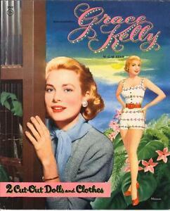 VINTGE 1955 GRACE KELLY PAPER DOLL ~PRETTY HD LASER REPRODUCTION~ORIG SIZE UNCUT