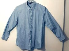 Apt 9 mens XXL button down long sleeve shirt blue & white stripes good condition