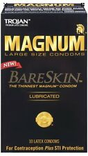 Trojan Magnum Bareskin Lubricated Large Size Condoms 10 Count (Pack of 1)