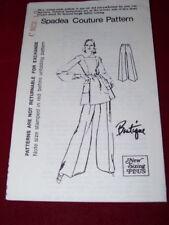 1970's SPADEA #72702 ~ DESIGNER BOUTIQUE - LADIES RETRO PANT SUIT PATTERN 10 FF