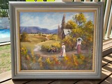 Genuine Oil Painting by Lynn Norris 64cm x 54cm Good Condition,Traditional style