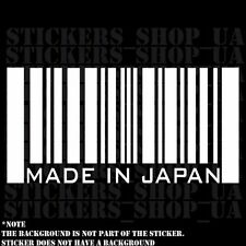 Made in Japan decal sticker car Vinyl track Window bamper honda mitsubishi drfit