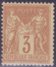 "FRANCE N° 86 ""TYPE SAGE 3c BISTRE"" NEUF xx TTB, SIGNE"