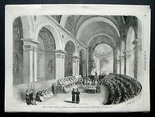 1870:Scene Concilio di TRENTO.1° Seminario Generale...Chiesa di TRENTO .Cm 33x24