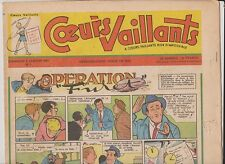 COEURS VAILLANTS 1957 année complète n°1 à 52 - TTB