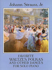 Strauss II Favorite Waltzes Polkas Other Dances Solo Piano Play Music Book