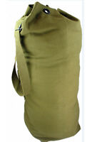 Mens Army Combat Military Shoulder Kit Travel Duffle Bag Canvas Surplus Green