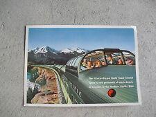 Vintage 1950s Oversize Postcard - Northern Pacific Railways Vista Dome Train
