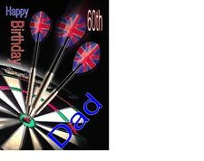 Darts  A5 Birthday Card personalised